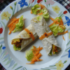 Egg and Carrot Chapati Roll Recipe