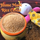 Homemade Rice Cereal Powder for Babies