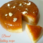 Bread Pudding Recipe {Eggless}