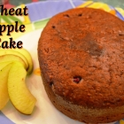 Wheat Eggless Apple Cake with Pomegranate