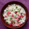Gopalkala Recipe (Brown Rice Flakes in Yogurt)
