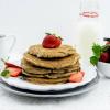 Whole Wheat Strawberry Banana Pancakes Recipe