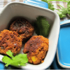 Zero-Fat Vegan Soya and Chana Dal Cutlets