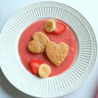 Heart Shaped Banana Oats Pancakes