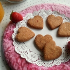 Heart Shaped Strawberry Cookies