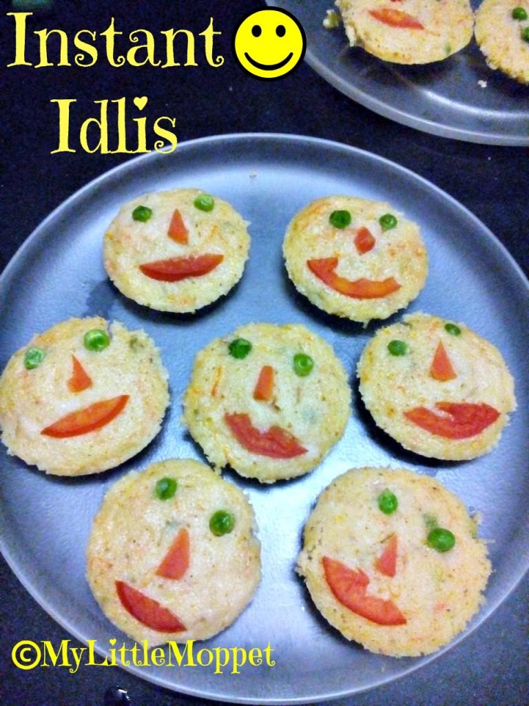Instant rava Idli Recipe for kids