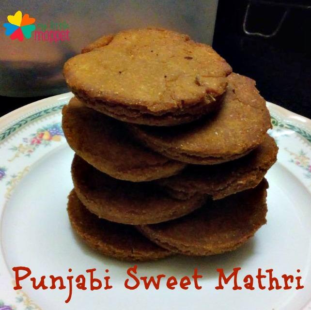 Punjabi Sweet Mathri Recipe