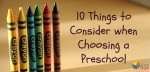 Choosing a Preschool in India-10 Must Know Tips