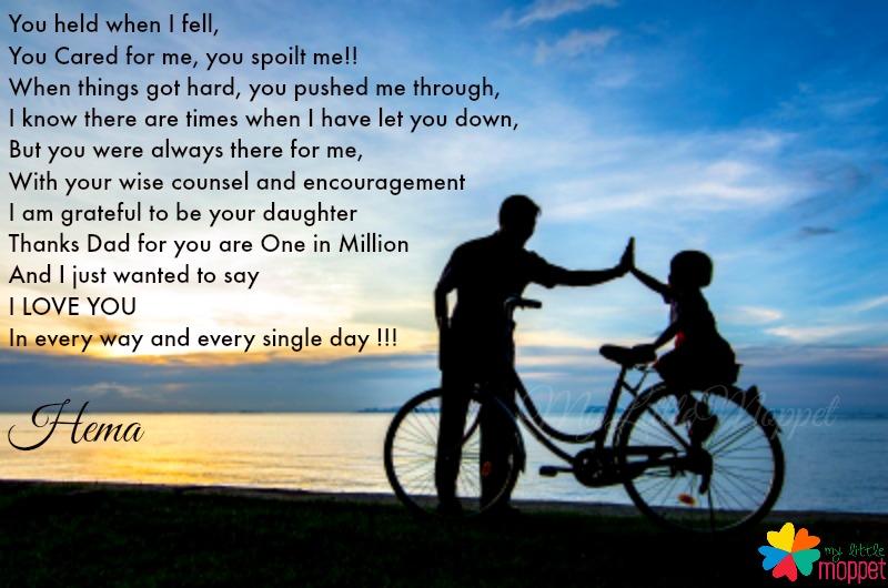 Great Dad poem, I love my Dad