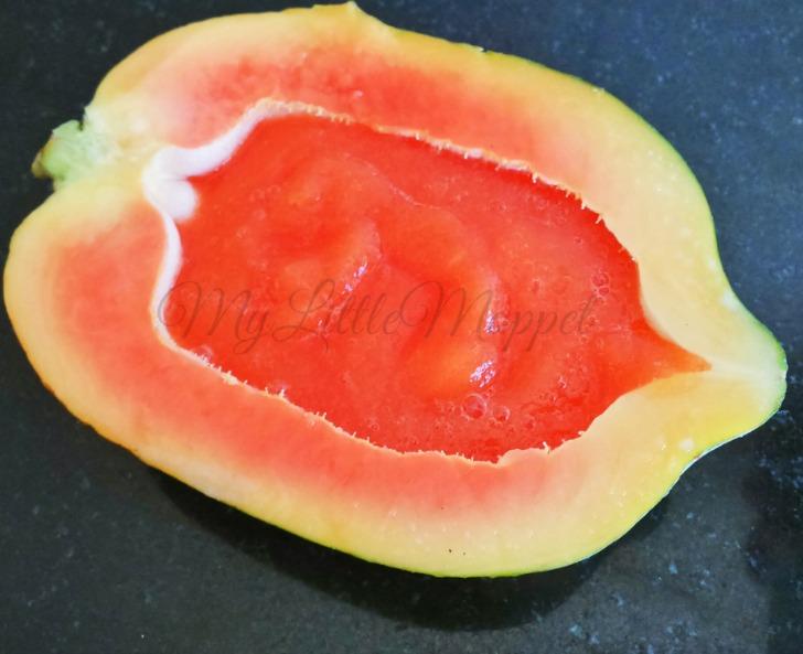 How to make papaya puree for babies