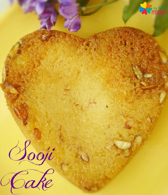 Eggless Sooji Cake Rava Cake Recipe For Kids My Little Moppet