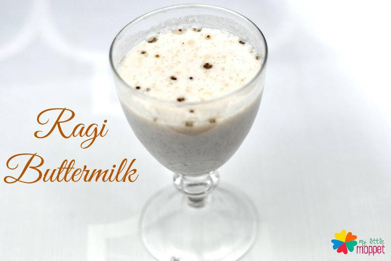 Ragi Buttermilk Recipe for kids summer