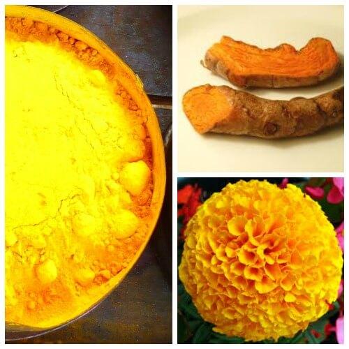 yellow color homemade holi powder recipe