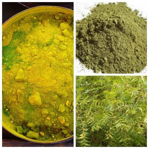 green color home made holi powder recipe