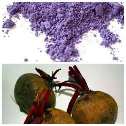purple color homemade holi color powder recipe