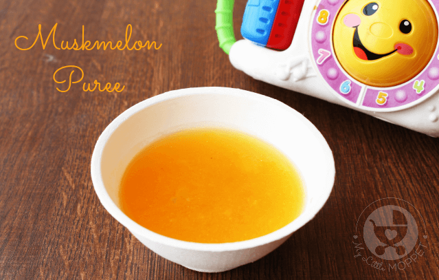 Muskmelon Puree or Kharbuja Puree for babies