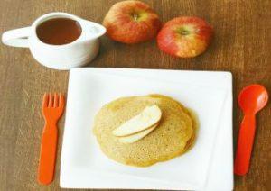 Apple Whole Wheat pancake recipe diary free eggless