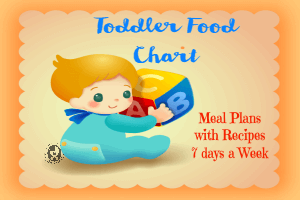 toddler food chart