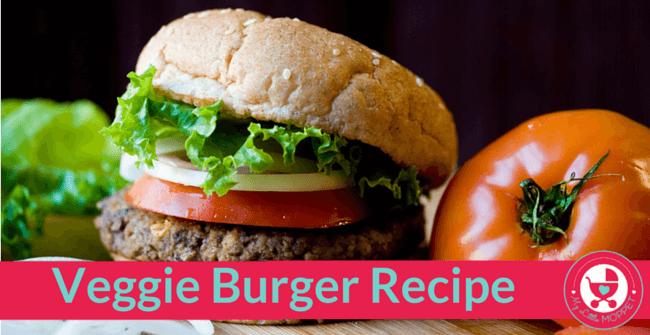 Veggie Burger Recipe My Little Moppet