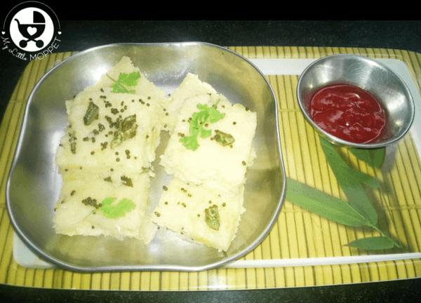 Sooji Cabbage Dhokla