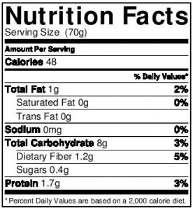 Organic Oats Nutritional Information