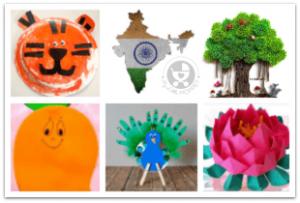 Indian National Symbol Crafts for Kids