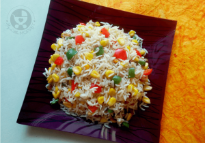 The more colorful a dish looks, the more appealing it is to kids! This Sweet Corn Fried Rice recipe is a tasty and filling option for lunch, dinner or the lunchbox.
