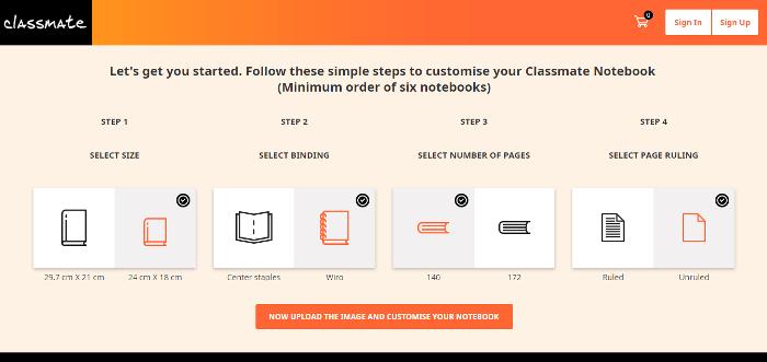 Classmate Customized Notebooks