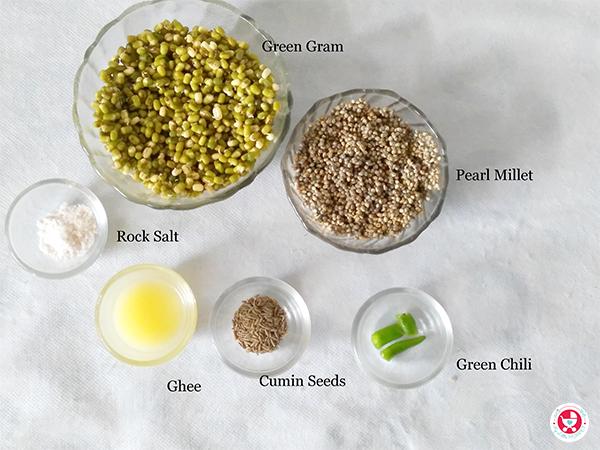 Pearl millet and green gram Pesarattu