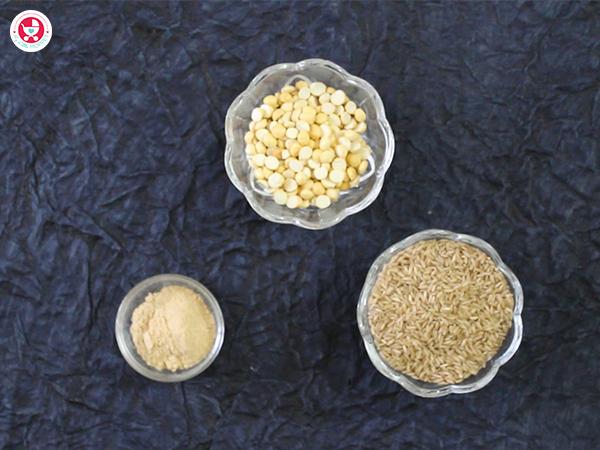 How to make Roasted Gram Rice Porridge for Babies [Homemade fiber rich porridge]?