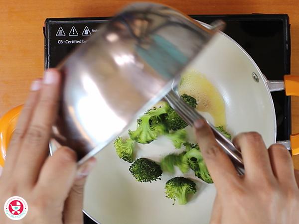 Add steamed broccoli.