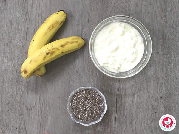 Banana chia Pudding for Babies and Kids [No sugar sweet pudding recipe]