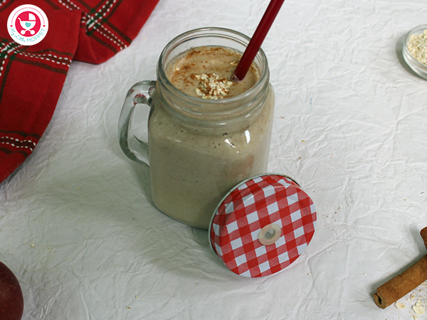 Apple Oats Dates Smoothie for kids