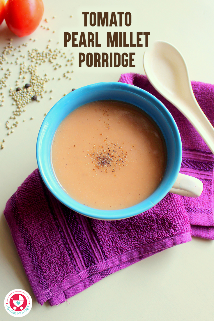 Tomato pearl millet porridge is a nutrient rich recipe suitable for babies above 8 months, it is highly nutritious, filling and immunity boosting.