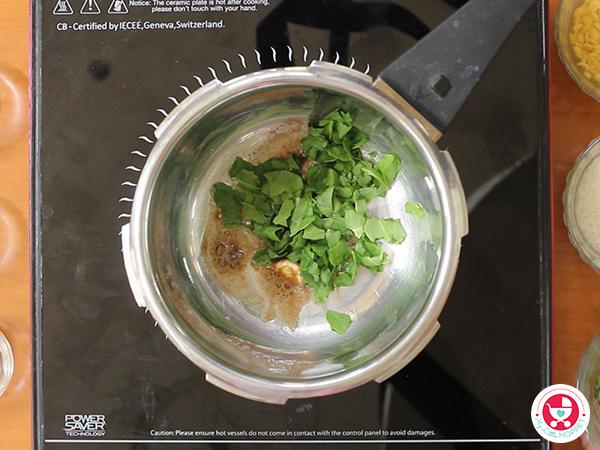 Spinach Khichdi
