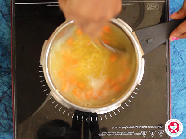 Carrot Moongdal Soup for Babies