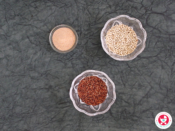 Jowar Ragi Dates Porridge for Babies [simple & easy iron rich baby food]