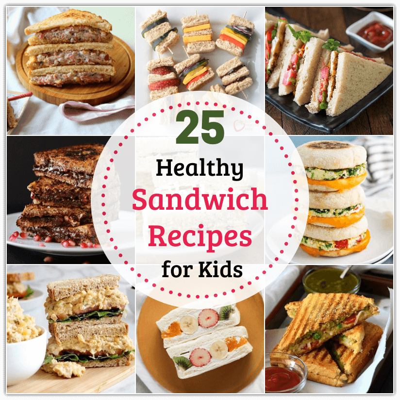 Sandwiches are portable, versatile and most importantly, kid-friendly! Check out some Healthy Sandwich Recipes for Kids that include a range of ingredients!