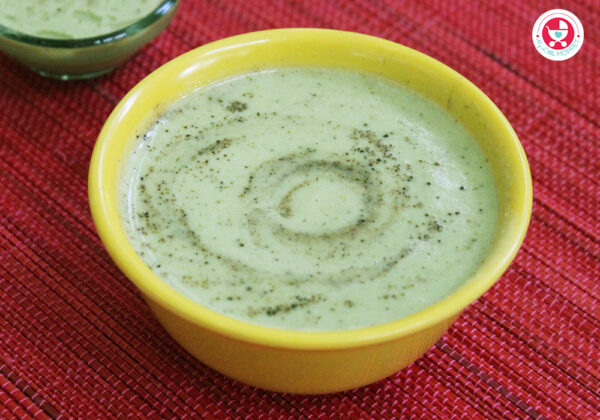 Broccoli soup for babies is a wholesome recipe, which is good for improving the immunity of babies. This recipe is suitable for babies above 8 months.